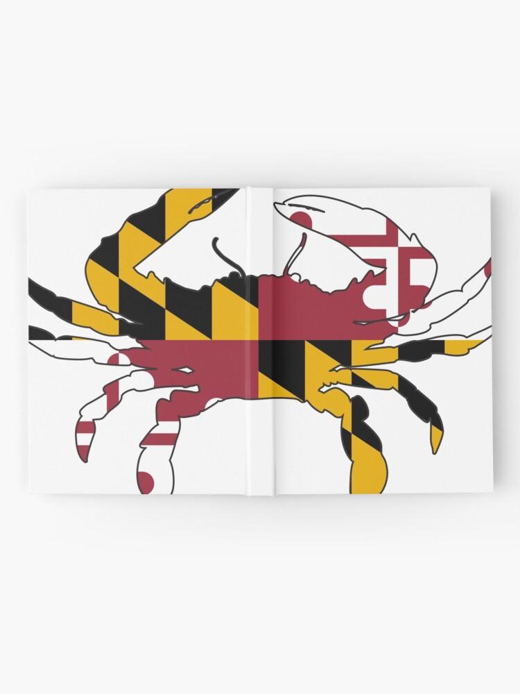 Vista alternativa de Cuaderno de tapa dura Cangrejo de la bandera de Maryland
