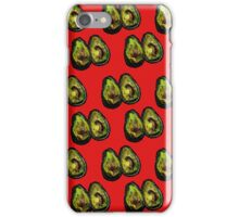 Avocado - Red iPhone Case/Skin