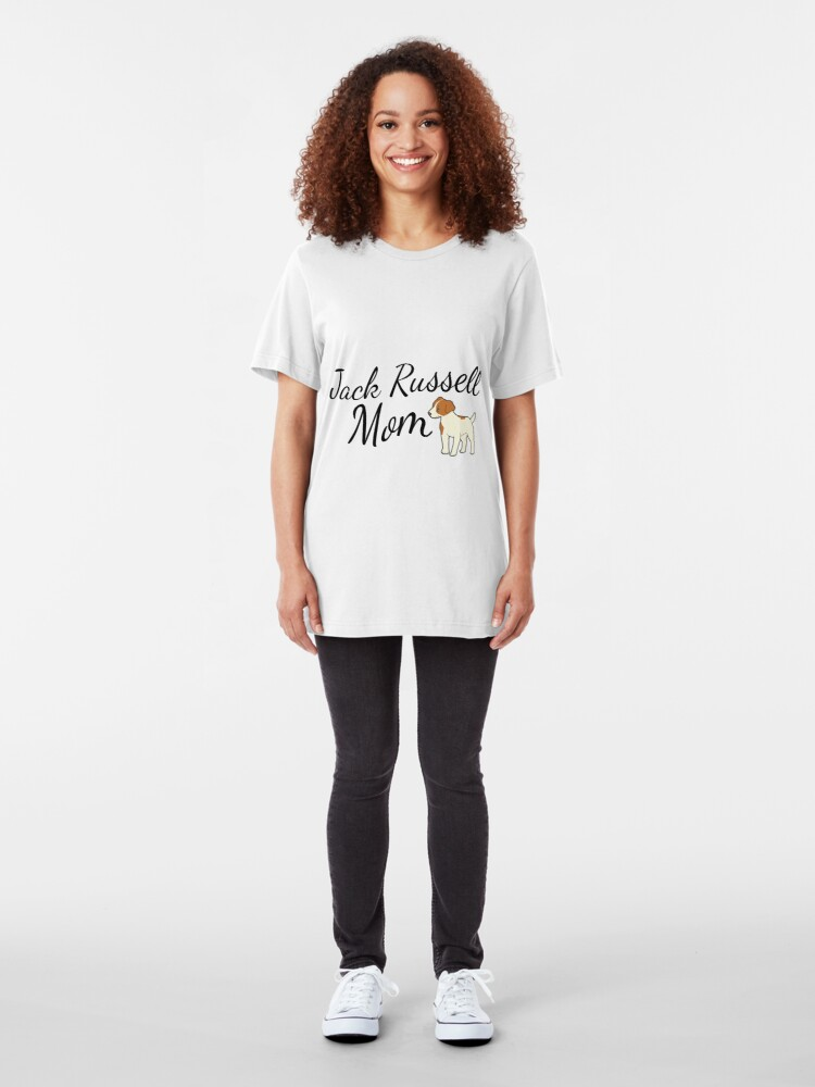 Alternate view of Jack Russell Terrier Mom Slim Fit T-Shirt