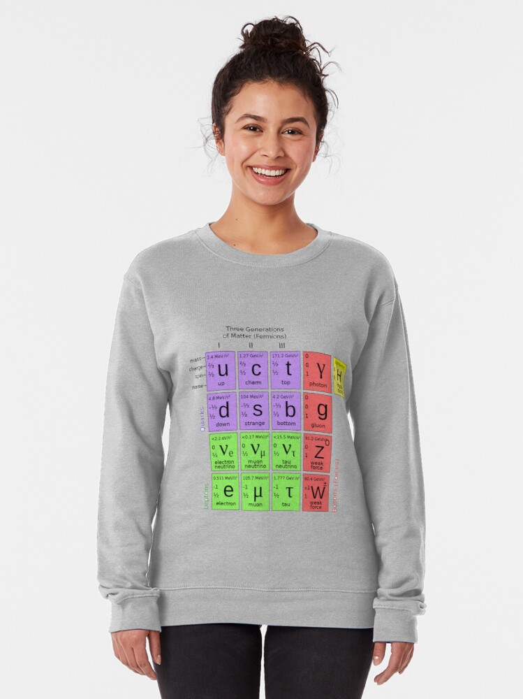 Alternate view of #ParticlePhysics #StandardModel #ElementaryParticle #HiggsBoson Physics Pullover Sweatshirt