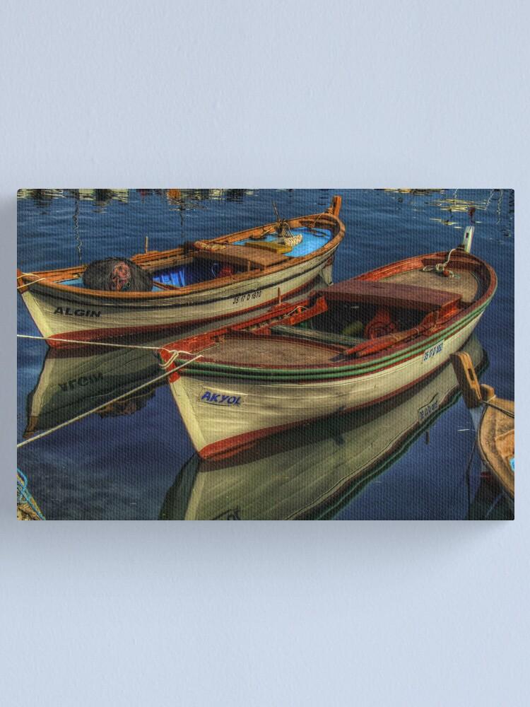 Alternate view of Barche a Karaburun Canvas Print
