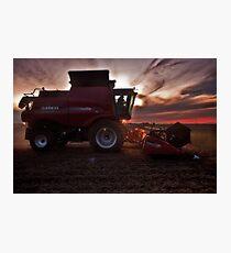 Sunset Harvesting Photographic Print