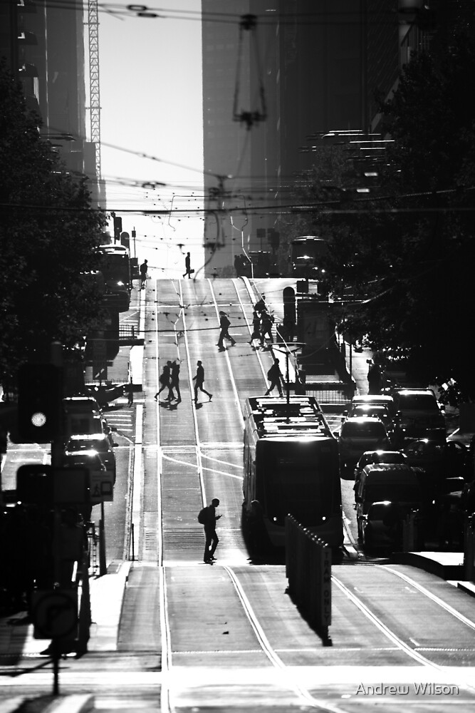 Collins st Morning by Andrew Wilson