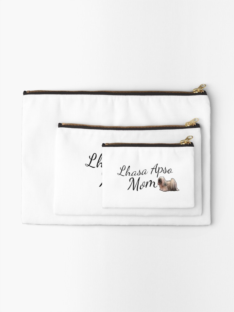 Alternate view of Lhasa Apso Mom Zipper Pouch