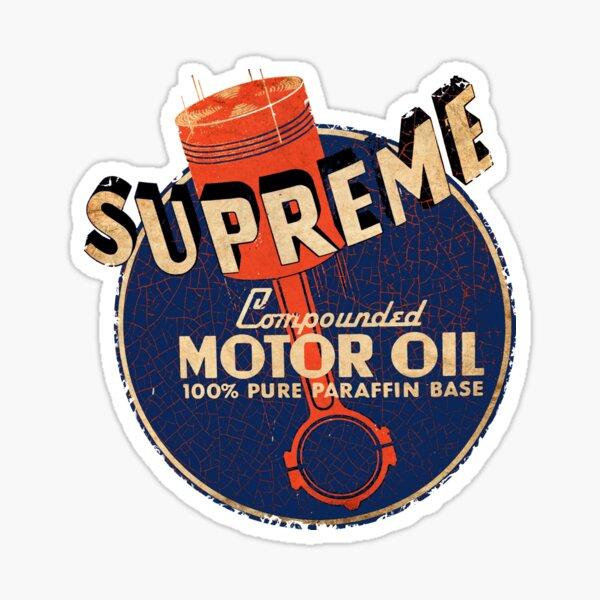 Supreme Motor oil USA Sticker