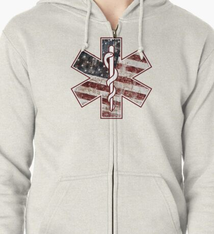 Star of Life America (EMS) Zipped Hoodie