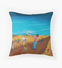 Collecting the Mail Throw Pillow