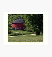 Red and Round Barn Near Onterio,Wisconsin Art Print