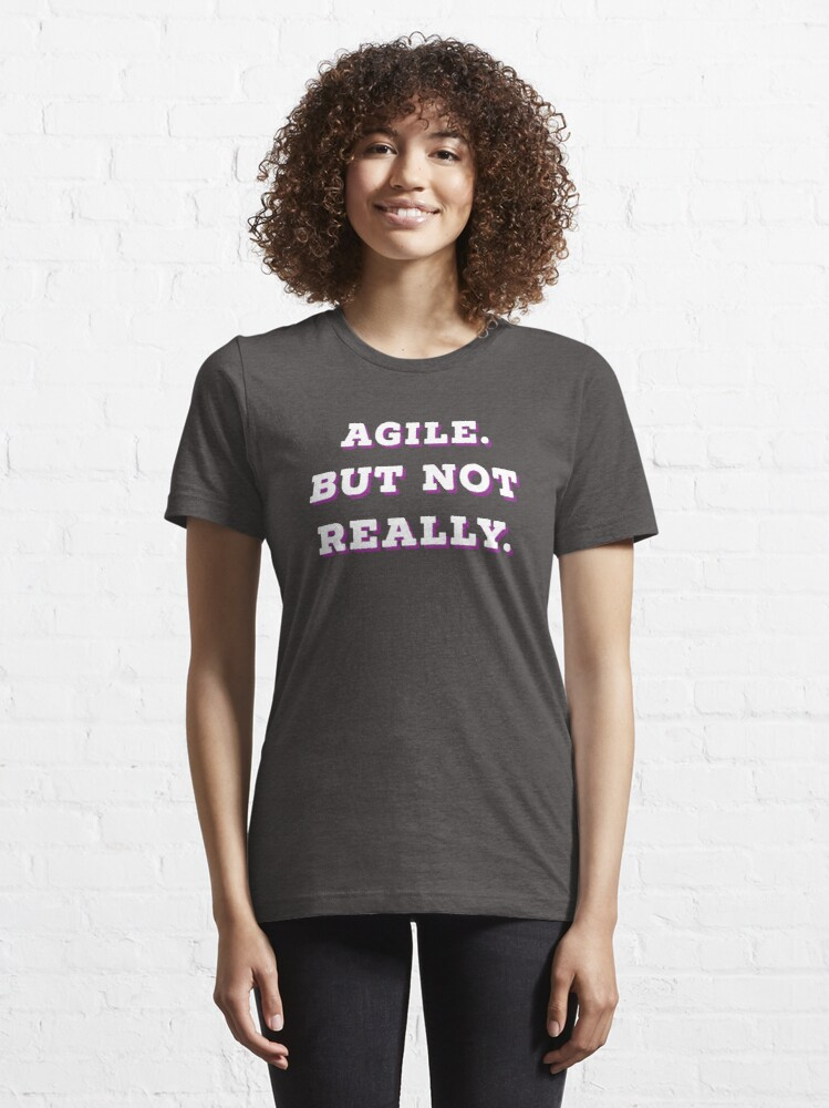 Alternate view of Agile but not really SIMPLE | Professions | pink Outline Essential T-Shirt