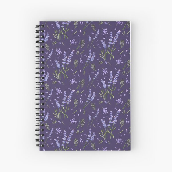 lavender with dark purple  Spiral Notebook