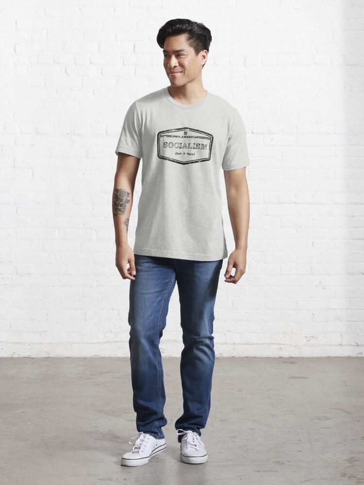Alternate view of 100% American Socialism  Essential T-Shirt