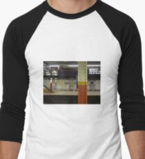 Brooklyn Bridge Subway NYC Men's Baseball ¾ T-Shirt