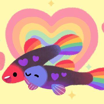 Rainbow guppy 2 by pikaole