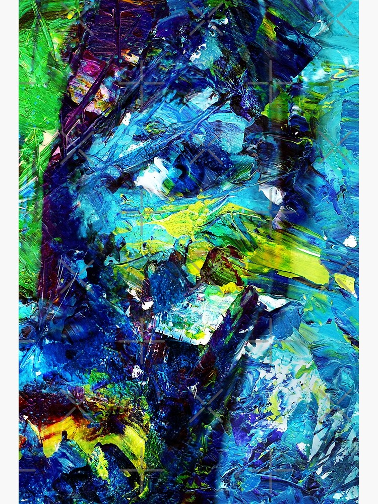 Close Up Female Face Abstract Painting Canvas Print