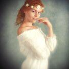 Angel in white by Mel Brackstone
