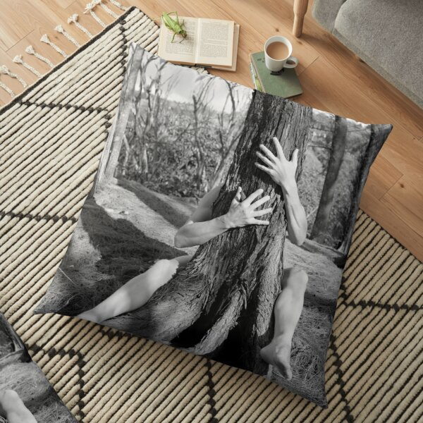 Hands and tree Floor Pillow