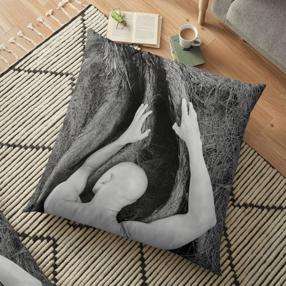 Man and tree Floor Pillow