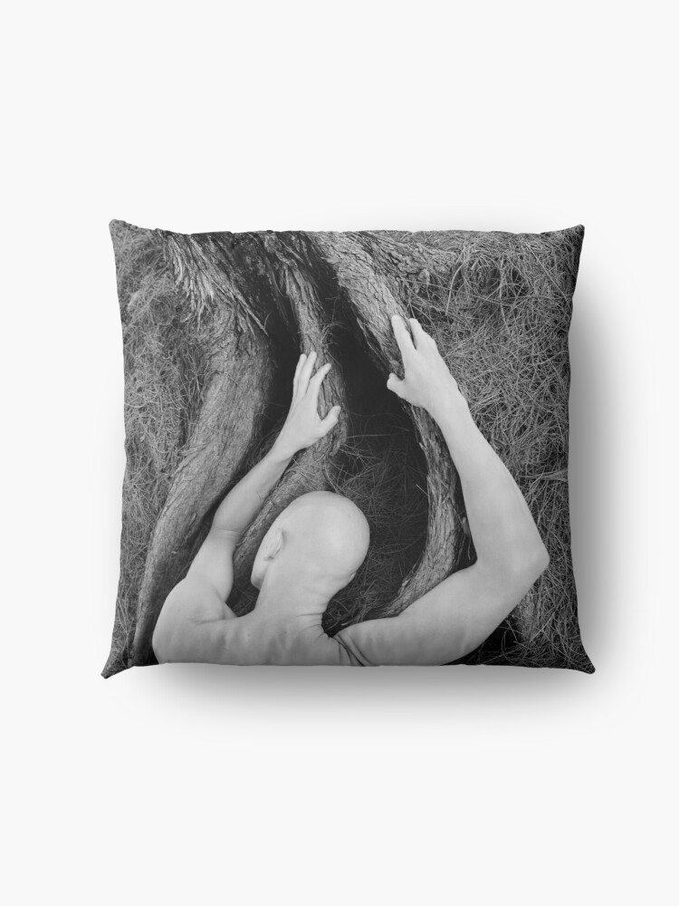 Alternate view of Man and tree Floor Pillow