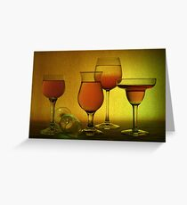 Still Life one - red and green Greeting Card
