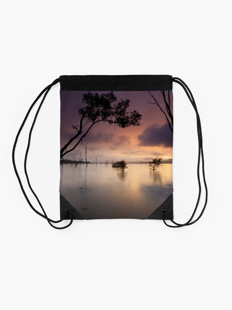 Alternate view of Flooded valley Drawstring Bag