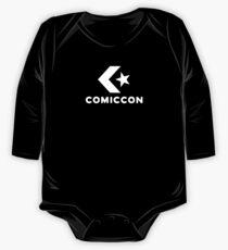 Comic-Converse Long Sleeve Baby One-Piece
