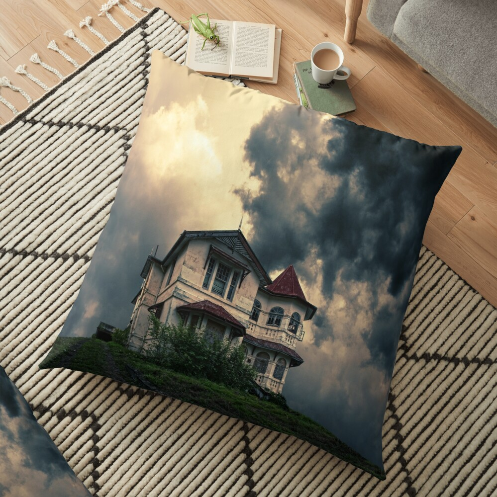 Storm on the horizon Floor Pillow