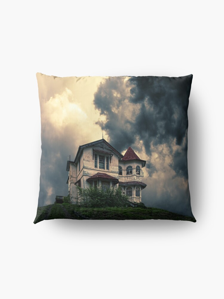 Alternate view of Storm on the horizon Floor Pillow