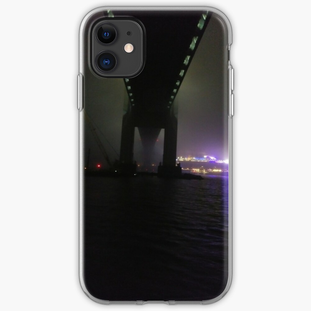 Early #Morning at Verrazzano-Narrows Bridge, #Cable-#stayed #bridge  iPhone Case & Cover