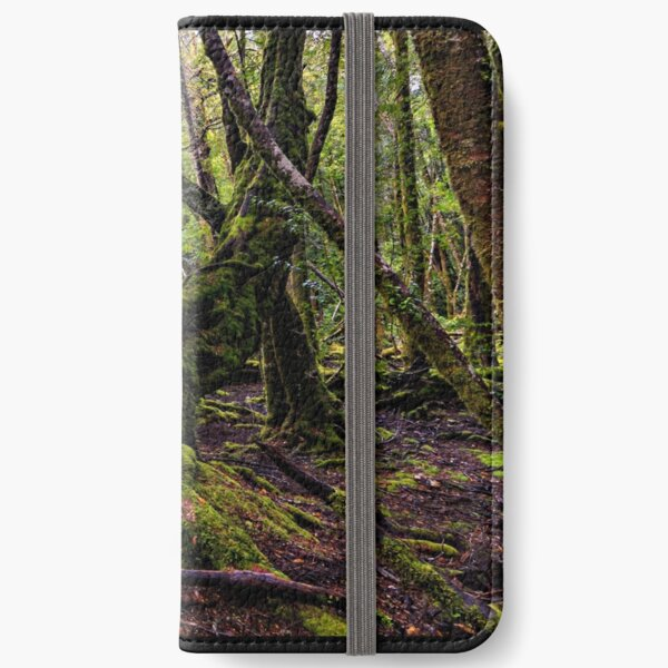 The clearest way to the Universe is through a forest wilderness iPhone Wallet