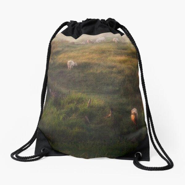 The cows Drawstring Bag