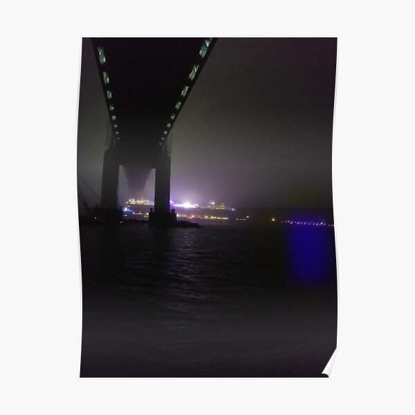 Early #Morning at #Verrazzano-Narrows #Bridge, Cable-stayed bridge  Poster