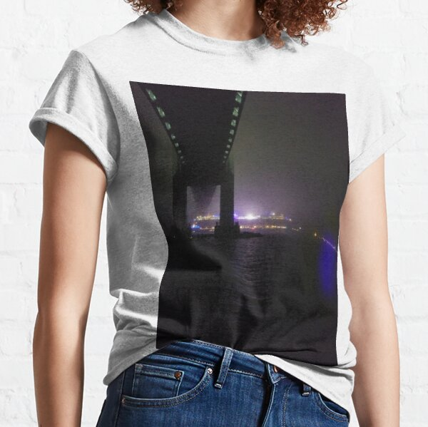 Early #Morning at #Verrazzano-Narrows #Bridge, Cable-stayed bridge  Classic T-Shirt