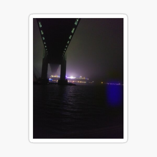 Early #Morning at #Verrazzano-Narrows #Bridge, Cable-stayed bridge  Sticker