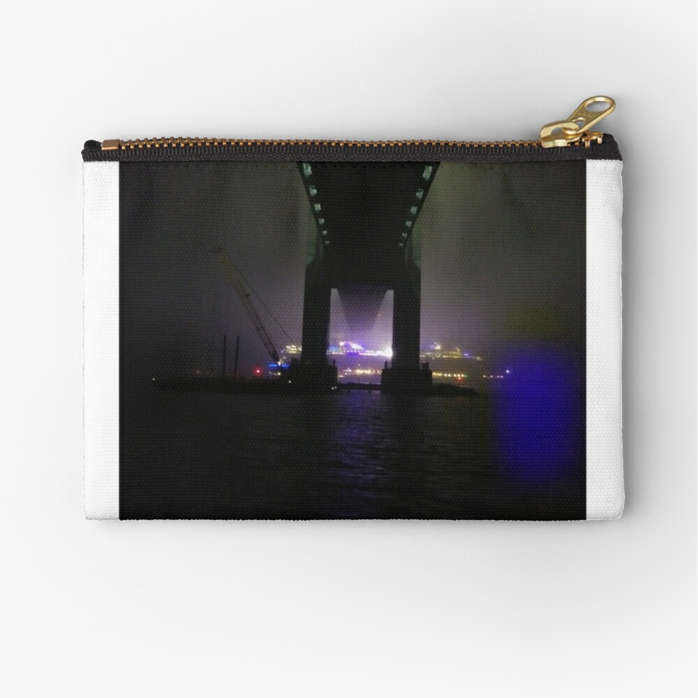 Early #Morning at #Verrazzano-Narrows #Bridge, Cable-stayed bridge  Zipper Pouch