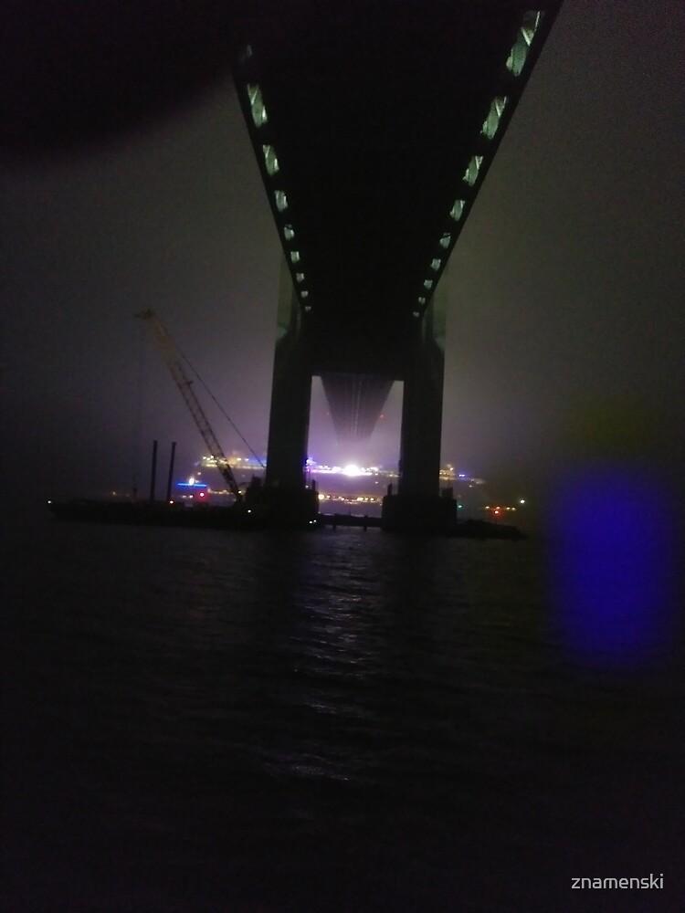 Early #Morning at #Verrazzano-Narrows #Bridge, Cable-stayed bridge  by znamenski