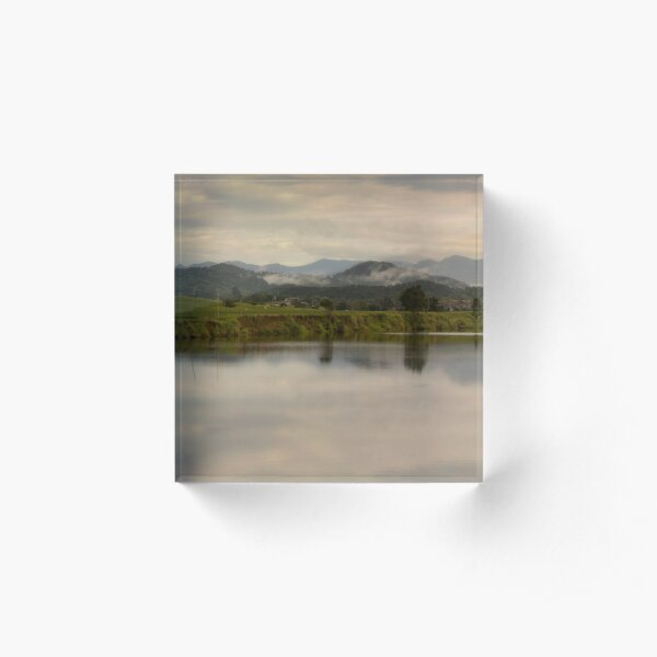 It's not easy to walk alone in the country without musing about something. Acrylic Block