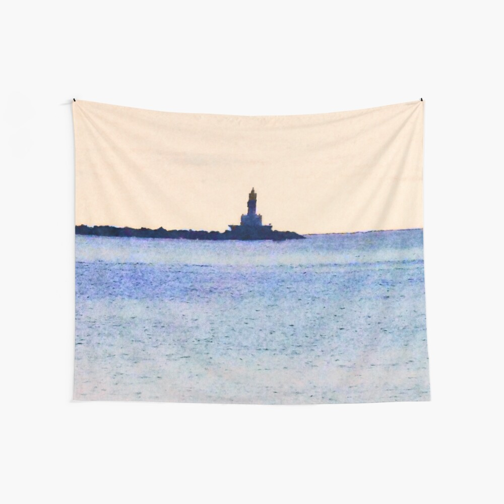 Lighthouse On Lake Wall Tapestry