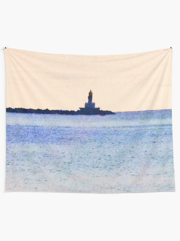 Alternate view of Lighthouse On Lake Tapestry