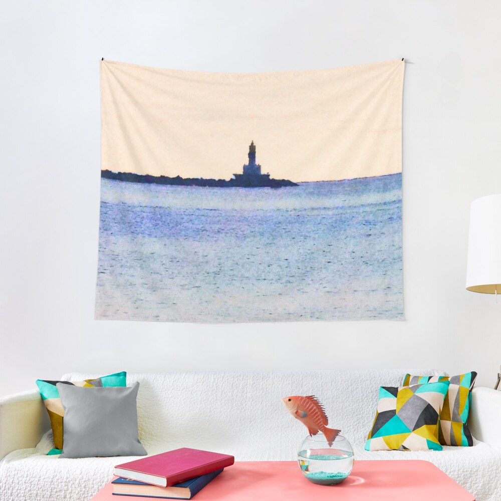 Lighthouse On Lake Tapestry
