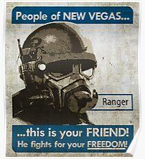 Fallout NCR propaganda poster Poster