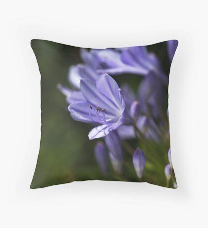 Agapanthus Dreaming Throw Pillow