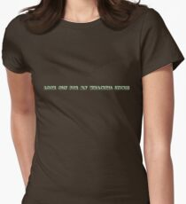 whacking stick Womens Fitted T-Shirt