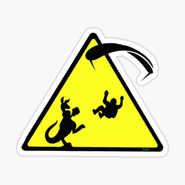 Attention pilote de parapente Sticker