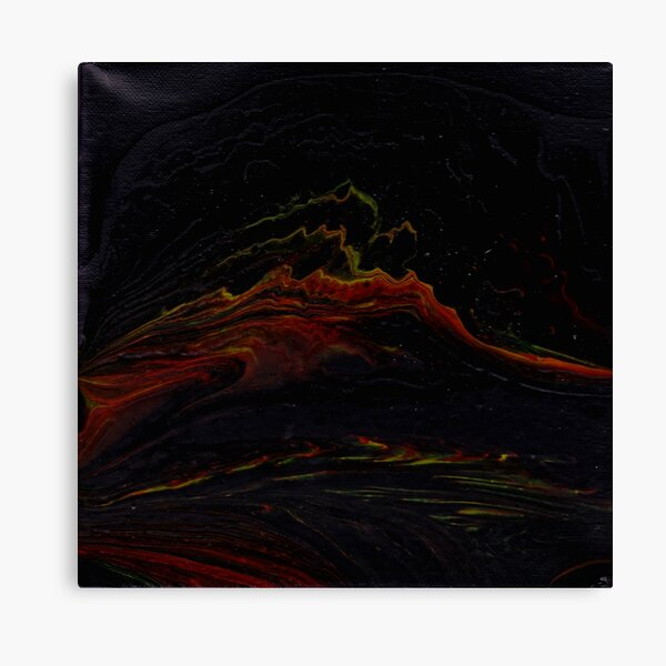 Fountain of abstract lava Canvas Print