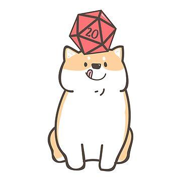 Shiba Inu Polyhedral D20 dados para los amantes del perro de pixeptional