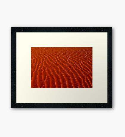 Sunset textures you can feel Framed Print