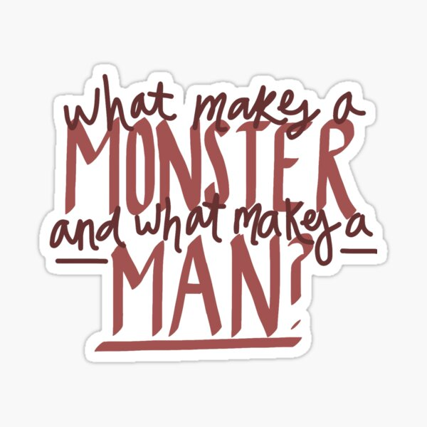 Hunchback of Notre Dame - What Makes a Monster? Sticker