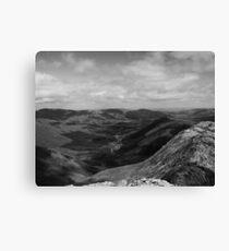 Connemara Landscape, Black and White Canvas Print