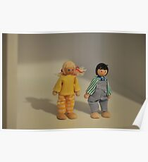 Shadows of wooden dolls Poster