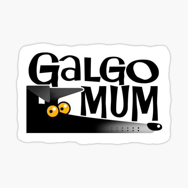 Galgo mamá (negro) Pegatina